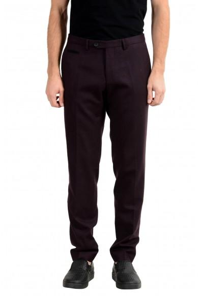 "Hugo Boss ""Wilhelm3"" Men's 100% Wool Dark Purple Dress Pants"
