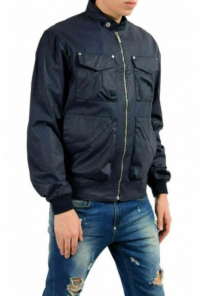 Versace Jeans Men's Dark Blue Full Zip Coated Windbreaker Jacket: Picture 2