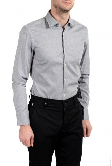 "Hugo Boss ""Jenno"" Men's Slim Stretch Gray Long Sleeve Dress Shirt: Picture 2"