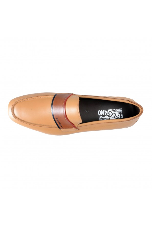 """Salvatore Ferragamo Men's """"FLORIDA"""" Light Brown Leather Loafers Slip On Shoes: Picture 8"""