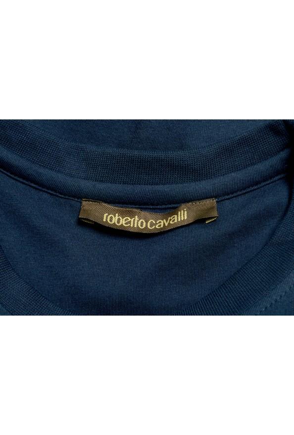 Roberto Cavalli Men's Blue Graphic Print T-Shirt : Picture 5