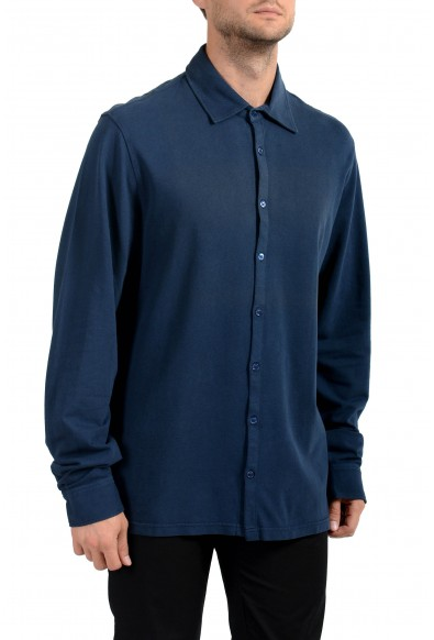 Malo Men's Dark Blue Long Sleeve Casual Shirt: Picture 2