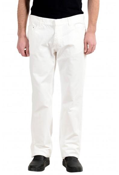 Malo Men's White Straight Leg Jeans
