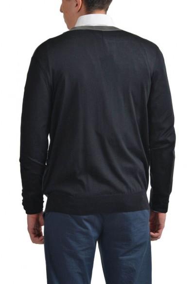 Prada Men's Multi-Color 100% Silk Button Down Cardigan Sweater: Picture 2