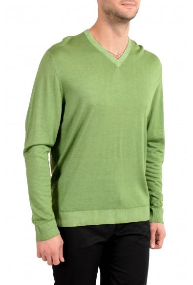 Kiton Men's Green Silk Cashmere V-Neck Pullover Sweater : Picture 2