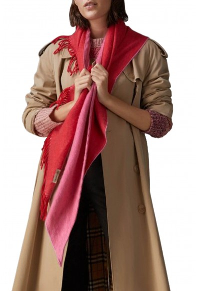 Burberry London Unisex Pink 100% Cashmere Scarf Shawl: Picture 2