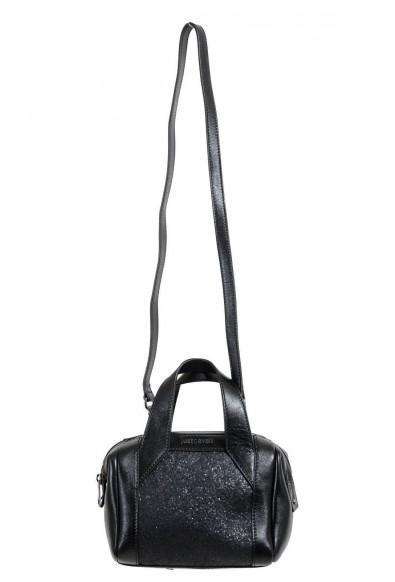 Just Cavalli 100% Leather Black Embellished Women's Handbag Shoulder Bag