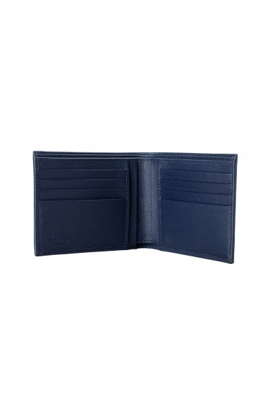 Salvatore Ferragamo Men's Dark Blue 100% Pebbled Leather Bifold Wallet: Picture 2