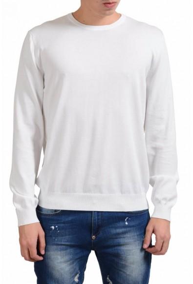 Malo Men's White Crewneck Light Sweater