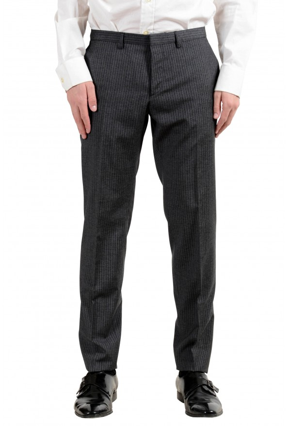 """Hugo Boss """"Reymond/Wented"""" Men's Silk Wool Striped Gray Slim Two Button Suit: Picture 3"""