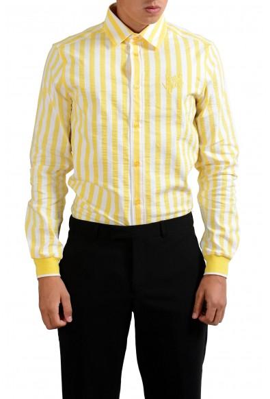 Versace Jeans Multi-Color Striped Button-Front Men's Casual Shirt