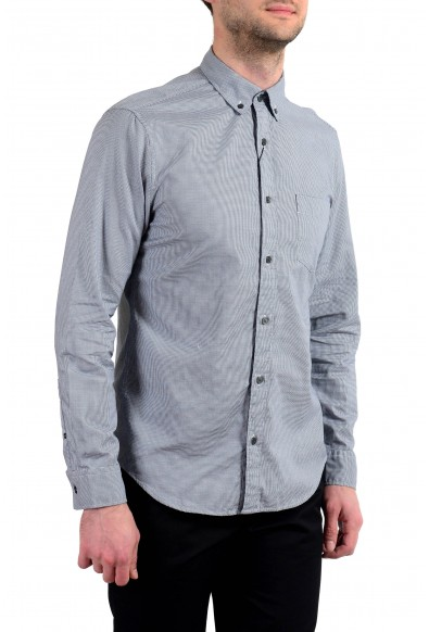 """Burberry Men's """"Fred"""" Houndstooth Long Sleeve Button Down Shirt: Picture 2"""