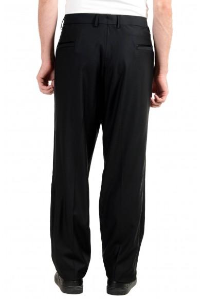 Versace Men's 100% Wool Black Tuxedo Dress Pants: Picture 2