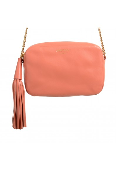 """Jimmy Choo Women's Powder Pink Leather """"Athini"""" Camera Shoulder Crossbody Bag: Picture 2"""