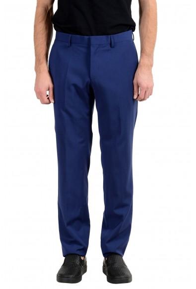 """Hugo Boss """"Huge6/Genius5"""" Men's 100% Wool Blue Slim Dress Pants"""