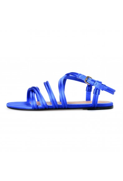 Marni Women's Blue Strappy Satin Leather Sandals Shoes: Picture 2