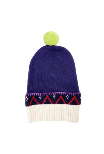 Burberry Unisex Cashmere Wool Multi-Color Pompon Beanie Hat: Picture 2