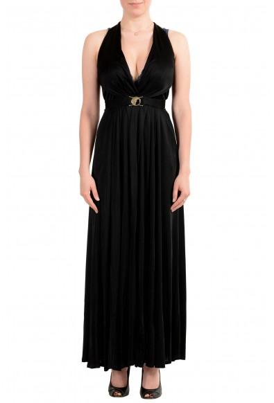 Versace Collection Women's Black Deep V-Neck Dress