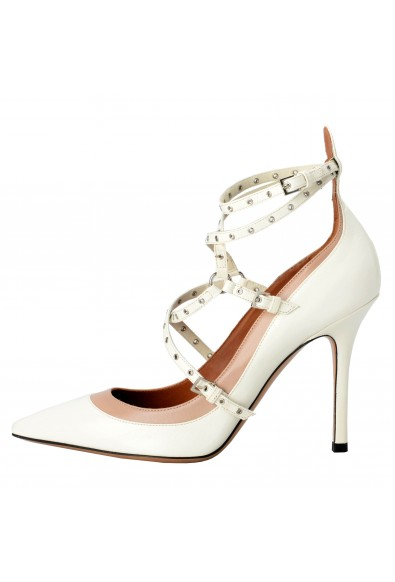 Valentino Garavani Women's Leather Two Tones Ankle Strap High Heels Shoes: Picture 2