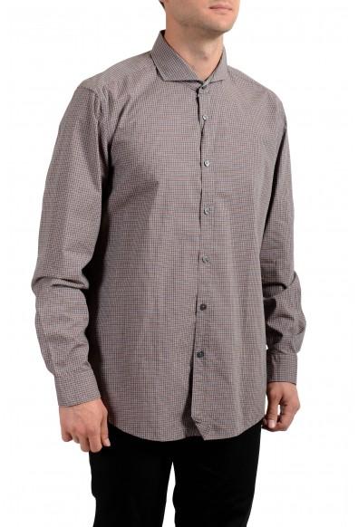 Hugo Boss Men's Lennie_2 Regular Fit Plaid Long Sleeve Casual Shirt