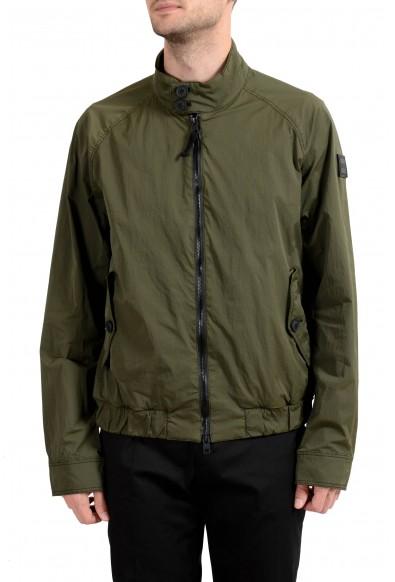 "Hugo Boss ""Osames-D"" Men's Olive Green Full Zip Windbreaker Jacket"