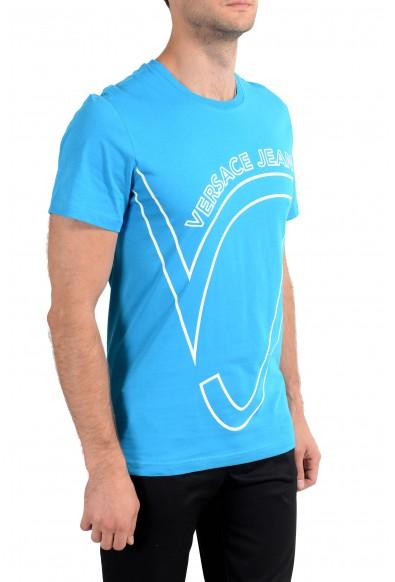 Versace Jeans Men's Blue Graphic Crewneck Short Sleeve T-Shirt: Picture 2