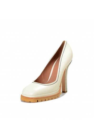Marni Women's Ivory Leather High Heel Classic Pumps Shoes