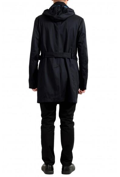 "Hugo Boss Men's ""Captus1"" Blue Hooded Trench Coat: Picture 2"