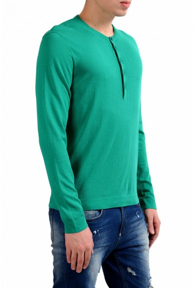 Malo Men's Green Henley Light Sweater: Picture 2