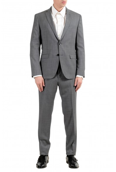 """Hugo Boss """"Reyno4/Wave2"""" Men's 100% Wool Extra Slim Gray Two Button Suit"""