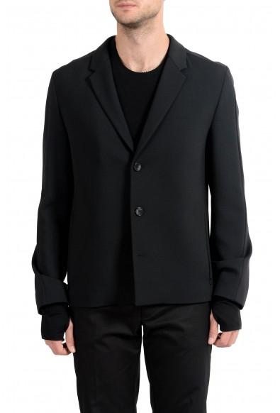 "Hugo Boss ""Alekto"" Men's Wool Black Stretch Three Button Blazer Sport Coat"
