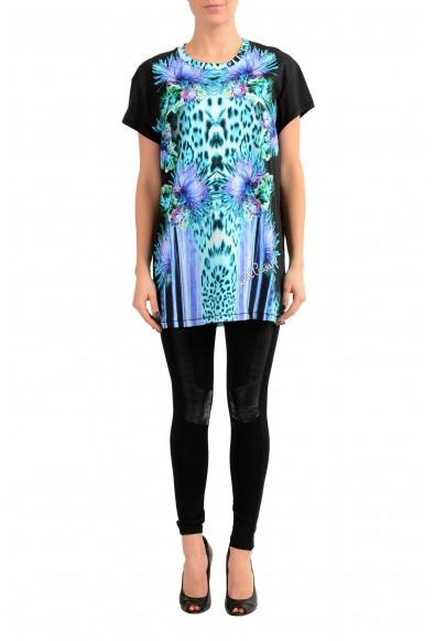 Just Cavalli Multi-Color Short Sleeve Women's Tunic T-Shirt