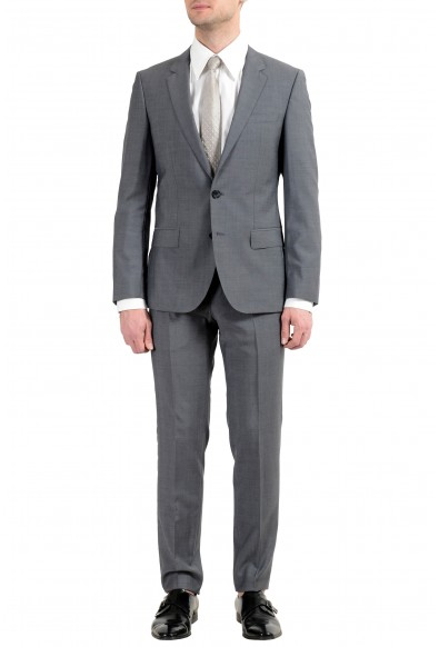 """Hugo Boss """"Henry/Griffin182"""" Men's 100% Wool Gray Slim Fit Two Button Suit"""