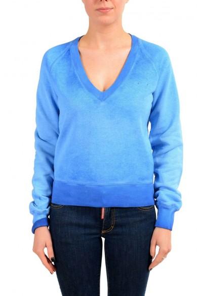 Dsquared2 Women's Blue V-Neck Sweatshirt