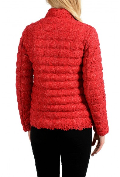 """Moncler """"Sorbier"""" Down Feather Red Full Zip Women's Puffer Jacket: Picture 2"""
