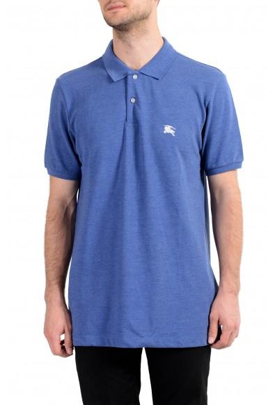 Burberry Men's Blue Short Sleeve Polo Shirt
