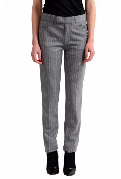 Tom Ford Wool Cashmere Gray Striped Women's Casual Pants