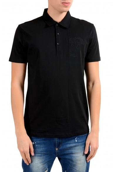 Versace Collection Men's Black Short Sleeve Polo Shirt