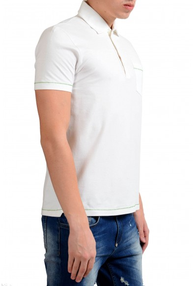 Malo Men's Stertch White Short Sleeve Polo Shirt : Picture 2