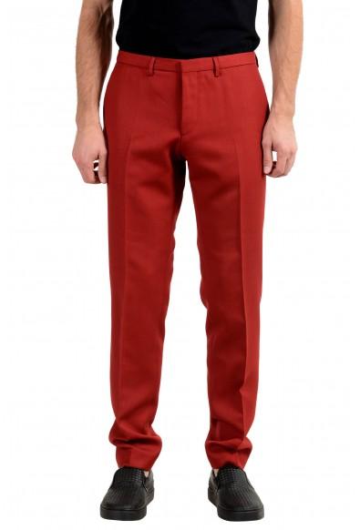 "Hugo Boss ""Reymond/Wenten"" Men's Wool Extra Slim Red Casual Pants"