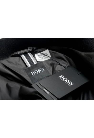 "Hugo Boss Men's ""Nipet"" 100% Leather Black Bomber Jacket : Picture 2"