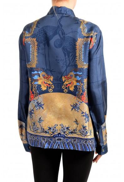 Versace Collection Women's Multi-Color 100% Silk Blouse Top: Picture 2