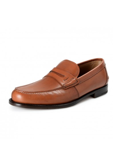 Salvatore Ferragamo Men's France Brown Leather Loafers Slip On Shoes