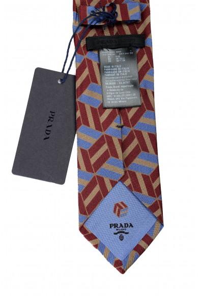 Prada Men's UCR77 Multi-Color Geometric Print 100% Silk Tie: Picture 2