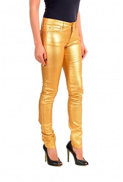 Saint Laurent Women's Gold Coated Jeans: Picture 2