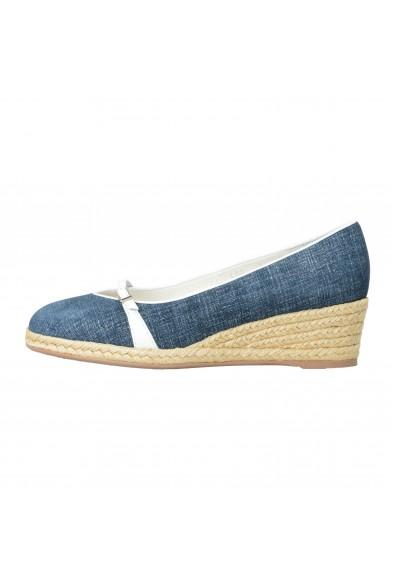 """Salvatore Ferragamo Women's """"AUDREY"""" Leather Wedges Pumps Shoes: Picture 2"""
