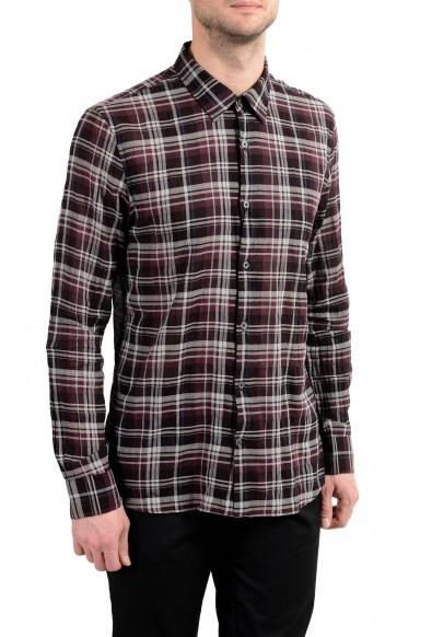 John Varvatos Multi-Color Checkered Long Sleeve Men's Shirt: Picture 2