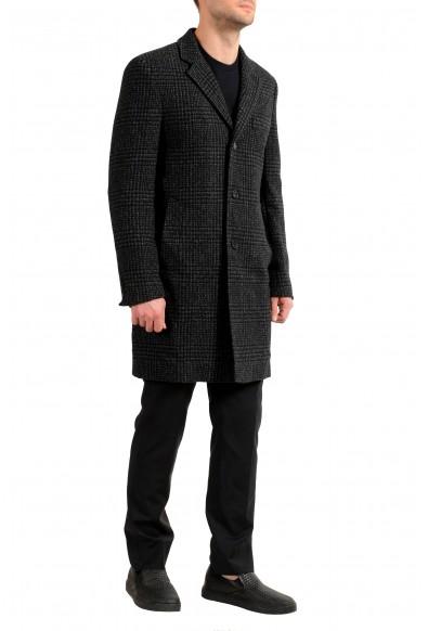 "Hugo Boss Men's ""Nye2"" Slim Fit Multi-Color Wool Button Down Coat: Picture 2"