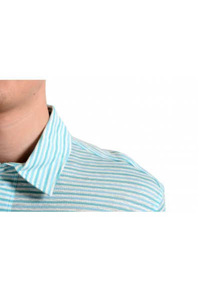 Malo Men's Linen Striped Short Sleeve Polo Shirt: Picture 2