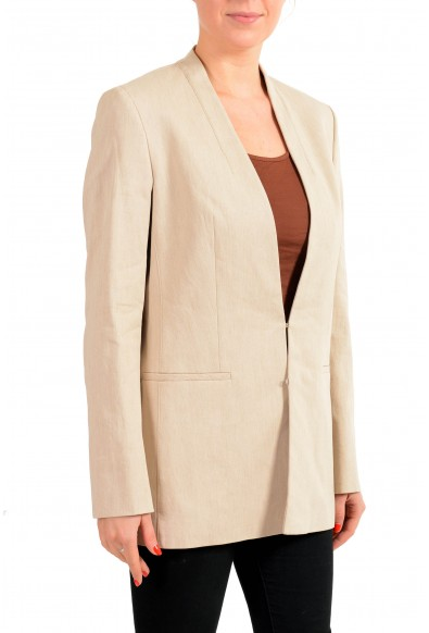 "Hugo Boss Women's ""Aresas"" Beige Linen Two Button Blazer: Picture 2"
